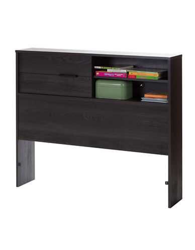 South Shore Fynn Twin Bookcase Headboard-GREY OAK-Twin