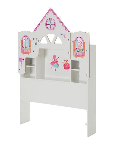 South Shore Dollhouse Themed Vito Twin Bookcase Headboard-PURE WHITE-Twin