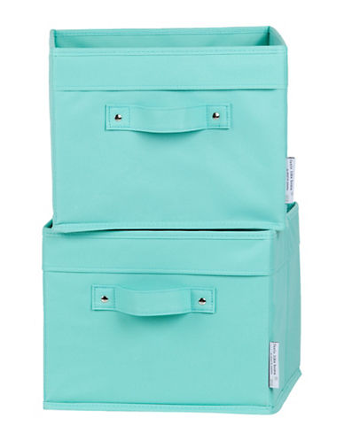 South Shore Storit Two-Pack Canvas Baskets-TURQUOISE-One Size