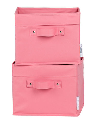 South Shore Storit Two-Pack Canvas Baskets-PINK-One Size