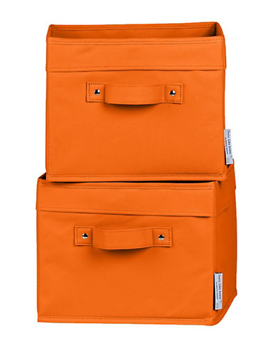 South Shore Storit Two-Pack Canvas Baskets-ORANGE-One Size