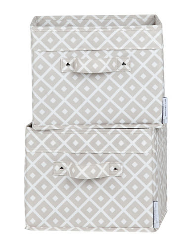 South Shore Storit Two-Pack Canvas Baskets-GREY-One Size