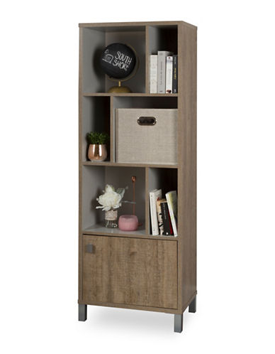 South Shore Expoz Six-Cube Shelving Unit-BROWN-One Size