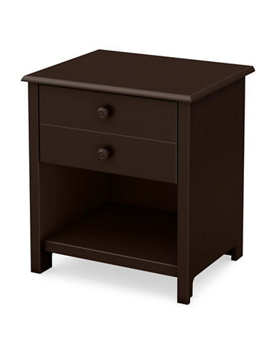 South Shore Little Smileys One-Drawer Nightstand-CHOCOLATE-One Size