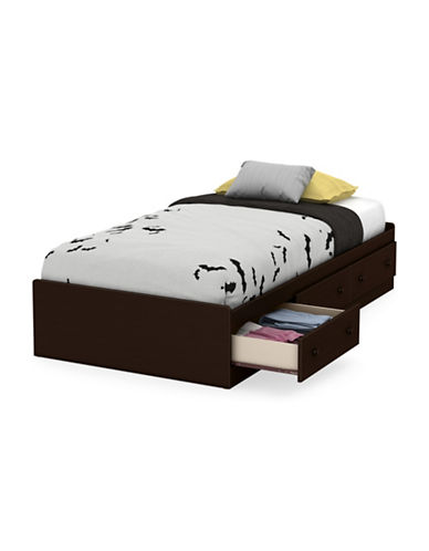 South Shore Little Smileys Twin Mates Bed with Drawers-CHOCOLATE-One Size