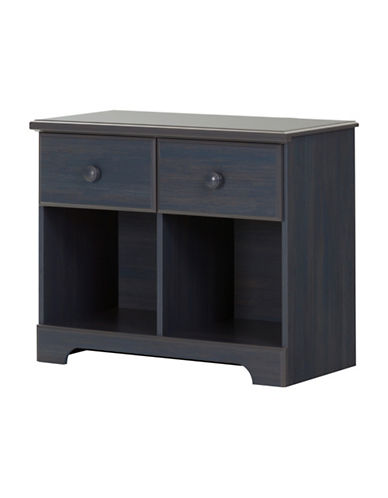 South Shore Summer Breeze Two-Drawer Double Nightstand-BLUEBERRY-One Size