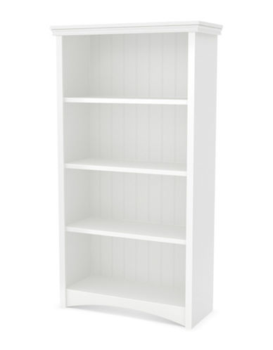 South Shore Artwork Four-Shelf Bookcase-PURE WHITE-One Size