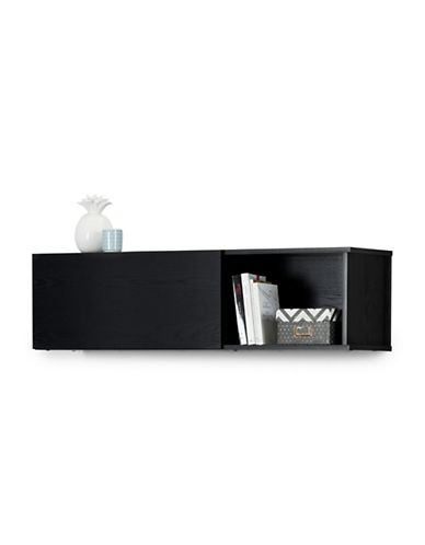 South Shore City Life Wall Mounted Storage Unit-BLACK OAK-One Size