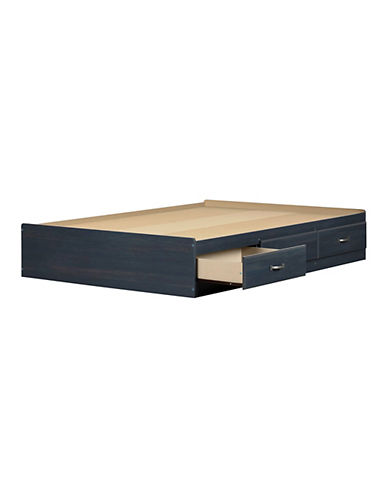South Shore Full Mates Bed with Three Drawers-BLUEBERRY-Full