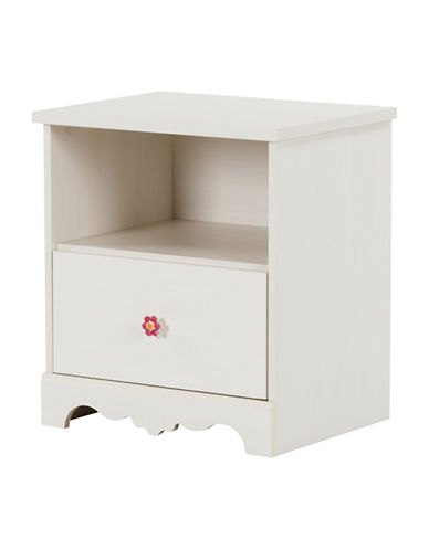 South Shore Lily Rose One-Drawer Nightstand-WHITE WASH-One Size