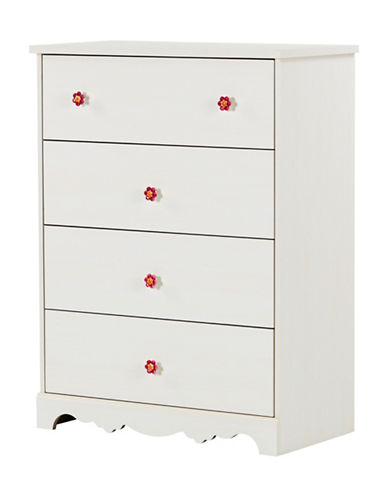 South Shore Lily Rose Four-Drawer Chest-WHITE WASH-One Size
