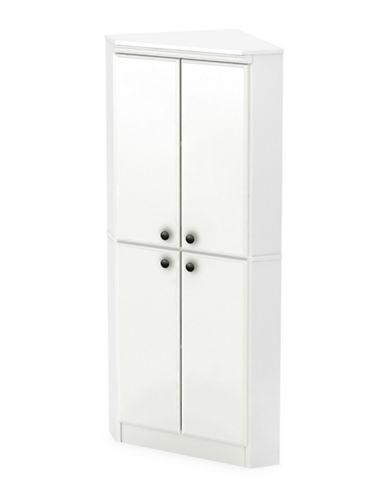 South Shore Morgan Four-Door Corner Armoire-PURE WHITE-One Size