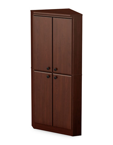South Shore Morgan Four-Door Corner Armoire-ROYAL CHERRY-One Size