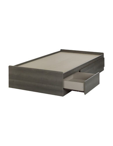 South Shore Savannah Twin Mates Bed with Three Drawers-GREY-One Size