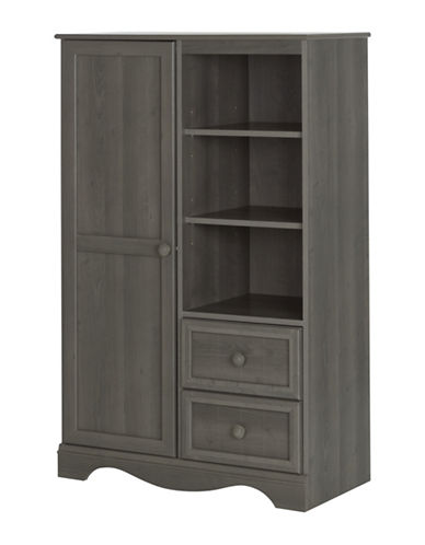 South Shore Savannah Armoire with Drawers-GREY-One Size
