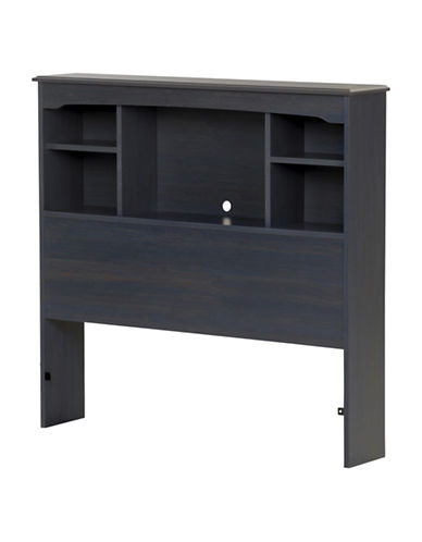 South Shore Aviron Twin Bookcase Headboard-BLUEBERRY-One Size