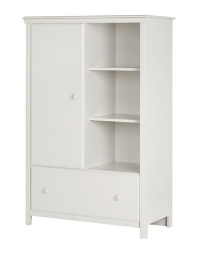 South Shore Cotton Candy Armoire with Drawer-PURE WHITE-One Size