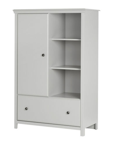 South Shore Cotton Candy Armoire with Drawer-SOFT GREY-One Size