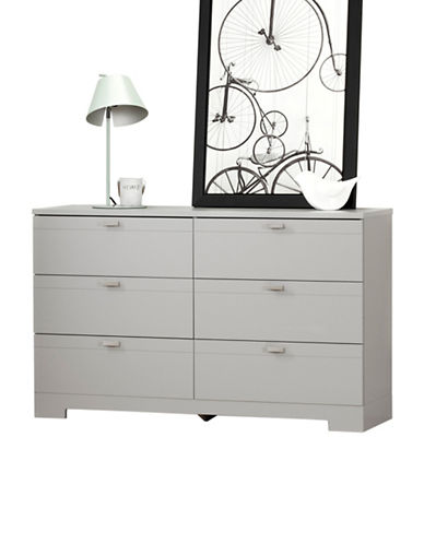 South Shore Reevo Six-Drawer Double Dresser-SOFT GREY-One Size