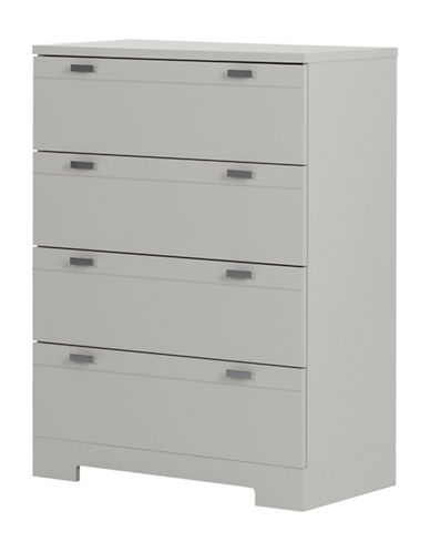 South Shore Reevo Four-Drawer Chest-SOFT GREY-One Size