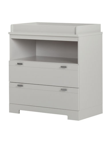 South Shore Reevo Changing Table with Storage-SOFT GREY-One Size