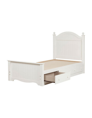 South Shore Savannah Twin Bed Set with 3 Drawers-PURE WHITE-Twin