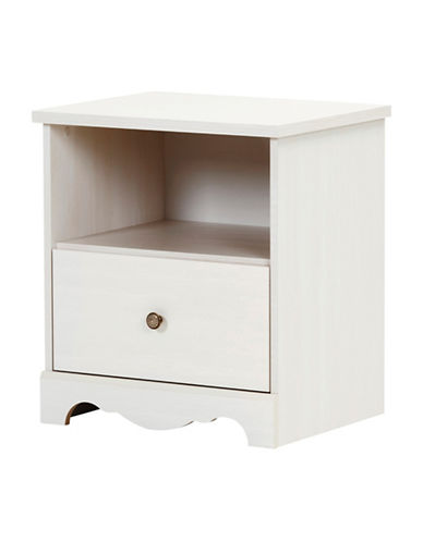 South Shore Caravell One-drawer Nightstand-WHITE WASH-One Size