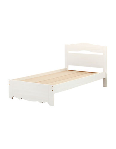 South Shore Caravell Twin Bed Set-WHITE WASH-Twin