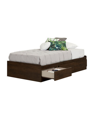 South Shore Fynn Twin Mates Bed with 3 Drawers-BROWN OAK-Twin