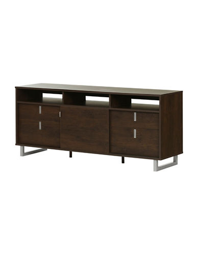 South Shore Uber TV Stand-BROWN OAK-One Size