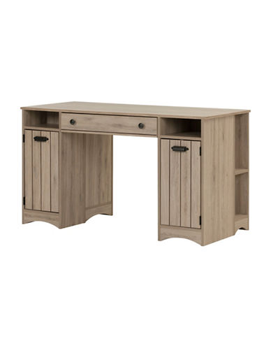South Shore Artwork Craft Table with Storage-RUSTIC OAK-One Size