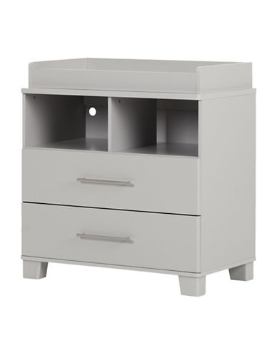 South Shore Cuddly Hybrid Changing Table and Dresser-SOFT GREY-One Size