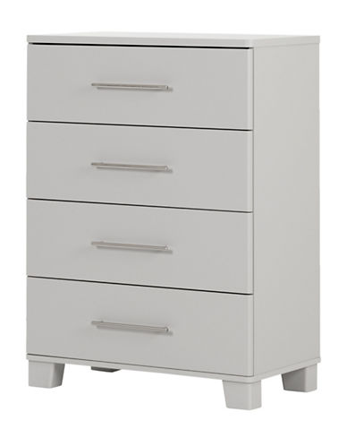 South Shore Cuddly Four-Drawer Chest-SOFT GREY-One Size
