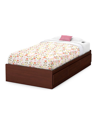 South Shore Twin Mates Bed with Three Drawers-ROYAL CHERRY-Twin