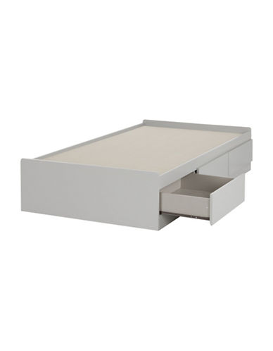 South Shore Cookie Twin Mates Bed-SOFT GRAY-Twin