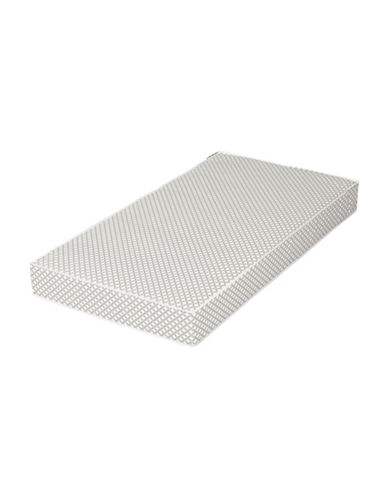 South Shore Somea Baby Crib and Toddler Mattress-GREY/WHITE-One Size