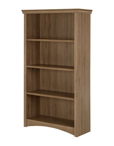 South Shore Artwork Four-Shelf Bookcase-RUSTIC OAK-One Size