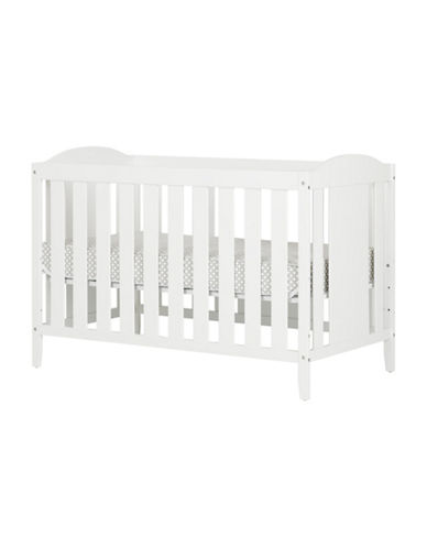 South Shore Angel Crib with Toddler Rail and Mattress-WHITE-One Size