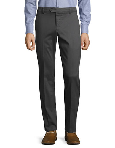 Black Brown 1826 Bedford Cord Pants-CHARCOAL-38X32