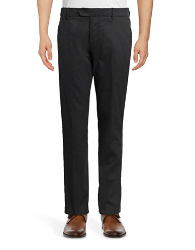 Black Brown 1826 Bedford Cord Pants-BLACK-38X30