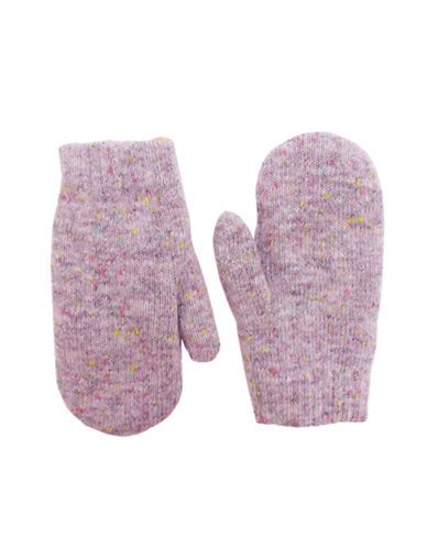 Fits Speckle Knit Mittens-PINK-4-6