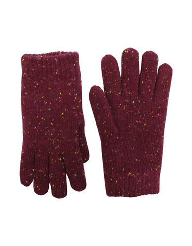 Fits Speckle Wool Blend Knitted Gloves-PURPLE-8-16