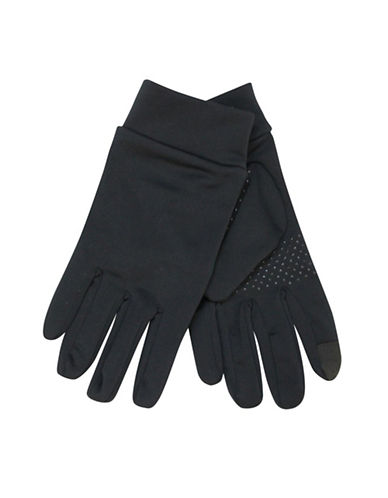 1670 Touch Technology Running Gloves-BLACK-One Size