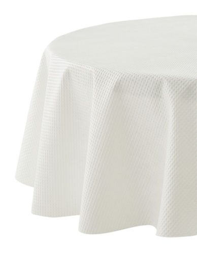 Essential Needs Embossed Table Cover-WHITE-52x52