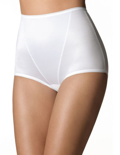 Playtex P0986 Super Look Light Shaping Full Briefs-WHITE-Large