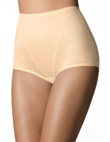 Playtex P0986 Super Look Light Shaping Full Briefs-BEIGE-X-Large