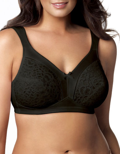 Playtex P4125 18 Hour Firm Support Wire-Free Bra-BLACK-42D
