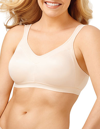 Playtex High Support P4159 18 Hour Firm Support Active Bra-LIGHT BEIGE-44C