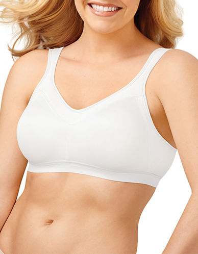 Playtex High Support P4159 18 Hour Firm Support Active Bra-WHITE-40DDD