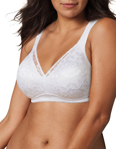 Playtex Breathable Wireless Bra-WHITE-40B